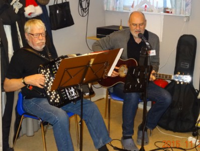 Henning Klok og Jan V. Nielsen underholder